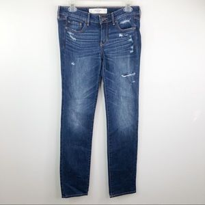Abercrombie A&F the Skinny Distressed Jean 4R/27